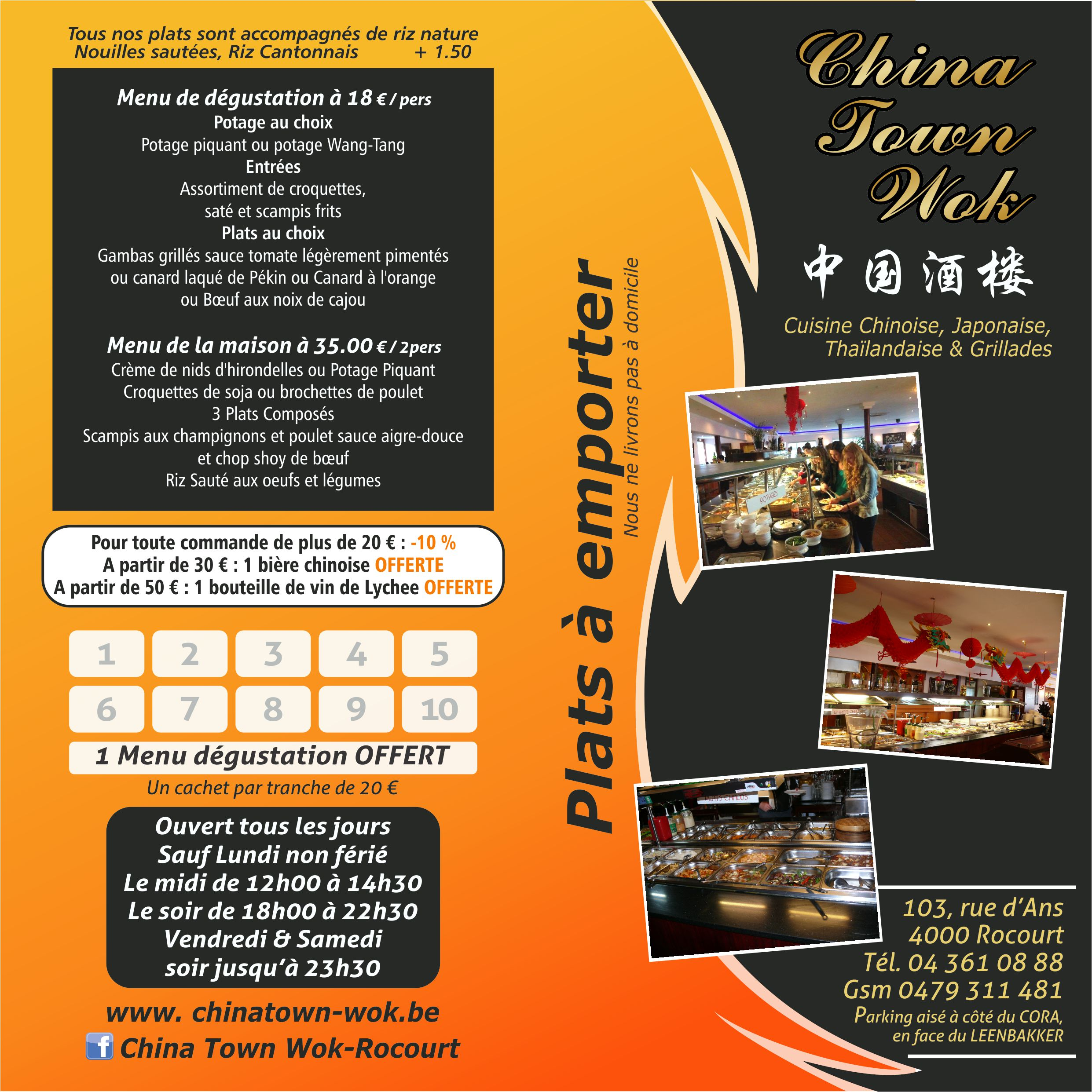 Menu China Town Wok